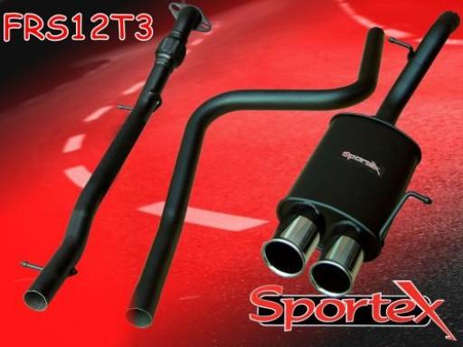 Sportex Ford Fiesta performance exhaust system 1.6i 2001-2008 T3