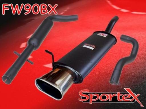Sportex VW Golf mk4 performance exhaust system 1997-2004 BX