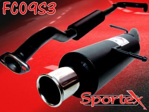 Sportex Citroen C2 performance exhaust system 1.1i 1.4i 1.6i 2003- S3