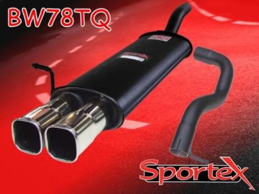 Sportex VW Golf mk4 2.0i GTi APK, AQY exhaust back box 1999-2001 TSQ