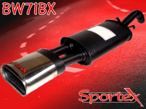 Sportex VW Golf exhaust back box 1.8 GTi 8v 1984-1992 BX