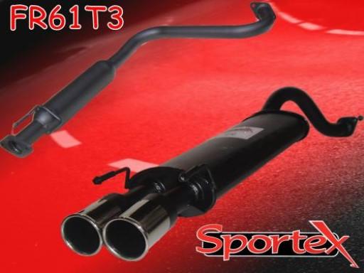 Sportex MG ZR exhaust system 2001-2005 T3