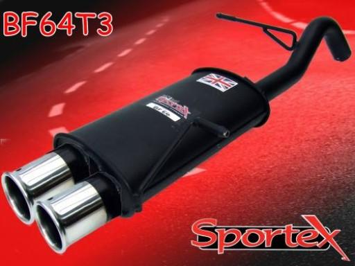 Sportex Ford Fiesta exhaust back box 1.25i 1.4i 2008-2012 T3