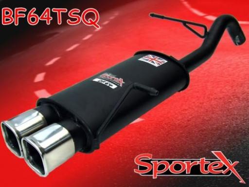 Sportex Ford Fiesta exhaust back box 1.25i 1.4i 2008-2012 TSQ