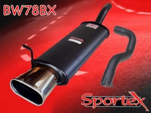 Sportex VW Golf mk4 1.8 GTi 125bhp exhaust back box 1997-1999 BX
