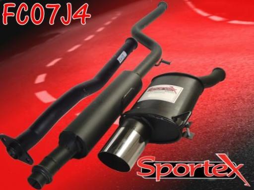 Sportex Citroen Saxo performance exhaust system 1.1 1.4 1.6 00-03 J4
