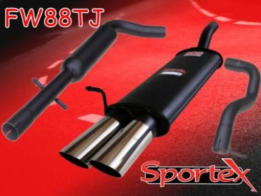 Sportex VW Golf exhaust system mk4 1997-2004 TJ