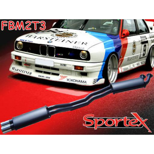 Sportex BMW 3 series performance exhaust system 325i 85-91 T3
