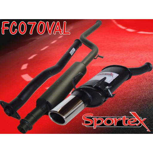 Sportex Citroen Saxo performance exhaust system 1.1 1.4 1.6 00-03 OV