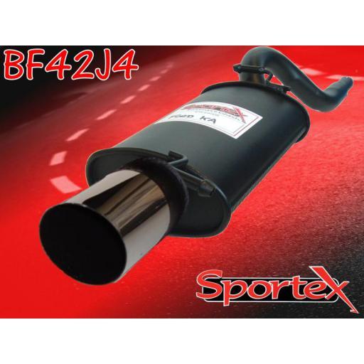 Sportex Ford KA exhaust back box 1.3i 1996-2008 J4