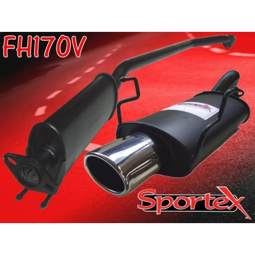 Sportex Honda Civic Type R performance exhaust system EP3 2001-06 OV