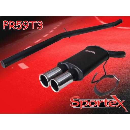 Sportex Peugeot 205 GTi performance exhaust system 1984-1989- T3