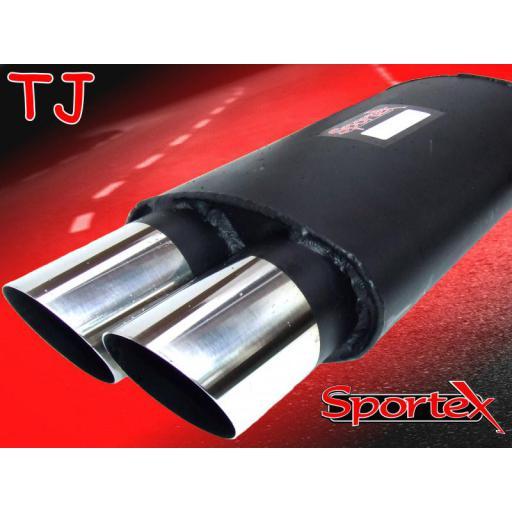 Sportex MG ZR exhaust back box 2001-2005 TJ