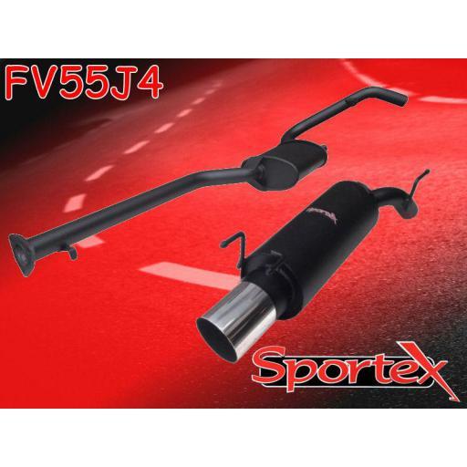 Sportex Vauxhall Calibra performance exhaust system 1994-1998 J4
