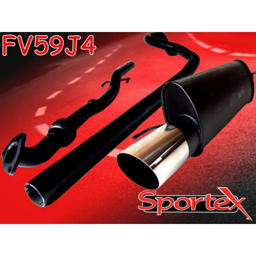 Sportex Vauxhall Corsa D cat back exhaust system 1.2i, 1.4i 2006- J4