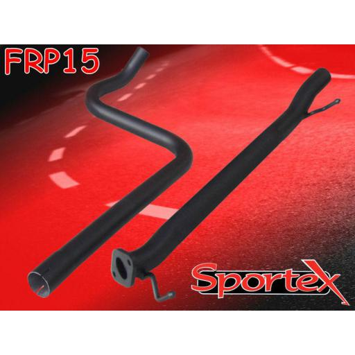 Sportex Ford Fiesta exhaust race tube 1.6i 2008-