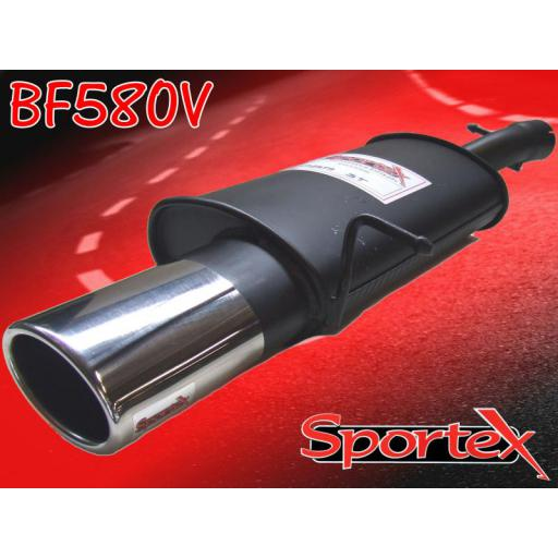 Sportex Ford Fiesta ST150 exhaust back box 05-08 OV