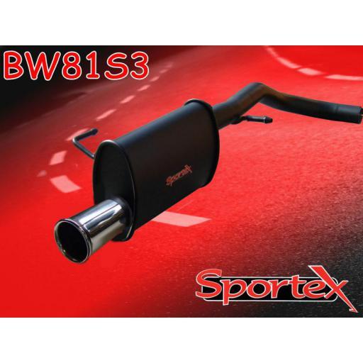 Sportex VW Lupo 1.0i 1.4i exhaust back box 1998-2004 S3