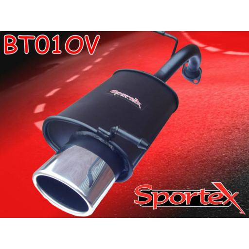 Sportex Toyota Yaris exhaust back box 1.3i 2002-2005 OV