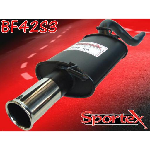 Sportex Ford KA performance exhaust back box 1.3i 1996-2008 S3