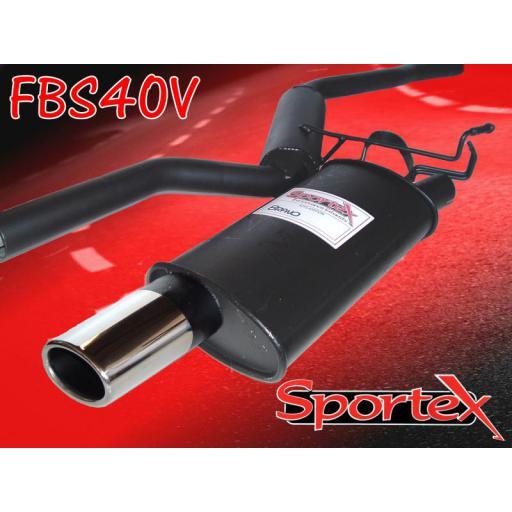Sportex Fiat Bravo performance exhaust system 1.4i 1998-2002 OV