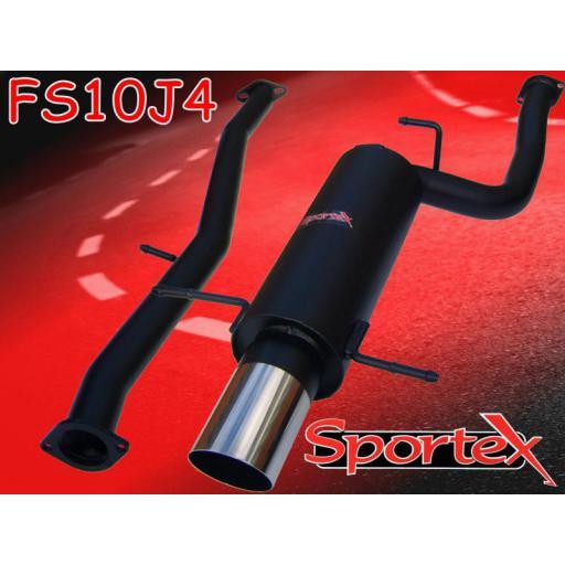 Sportex Subaru Impreza turbo exhaust system 1994-2000 J4