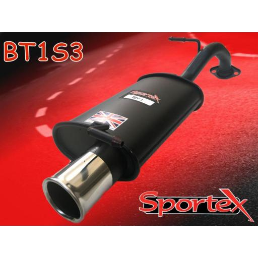 Sportex Toyota Yaris exhaust back box 1.3i 2002-2005 S3