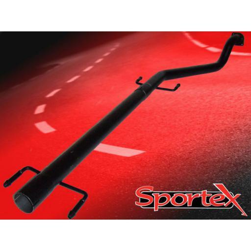 Sportex Vauxhall Astra mk4 exhaust race tube 1998-2004 (flange)