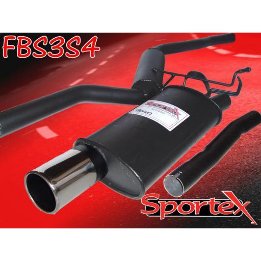 Sportex Fiat Bravo performance exhaust system 1.2i 1998-2002 S4