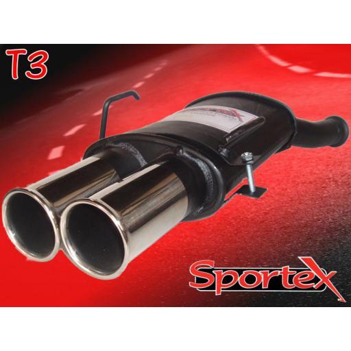 Sportex Citroen Saxo performance exhaust back box 2000-2003 T3