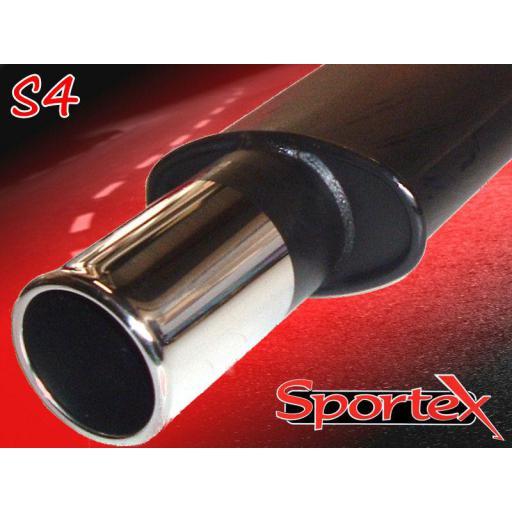 Sportex Ford Fiesta exhaust back box mk3 1.6i 1.8i 1992-1996 S4