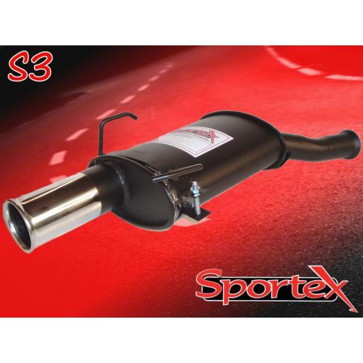 Sportex Citroen Saxo performance exhaust back box 1.1 1.4 2000-2003 S3