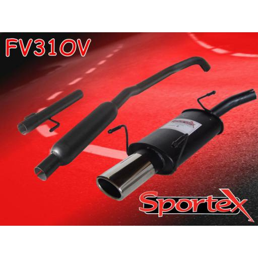 Sportex Vauxhall Corsa C performance exhaust system 2000-2006 OV