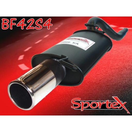 Sportex Ford KA exhaust back box 1.3i 1996-2008 S4
