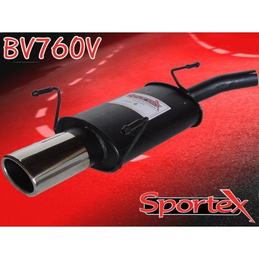 Sportex Vauxhall Corsa C exhaust back box 2000-2006 OV