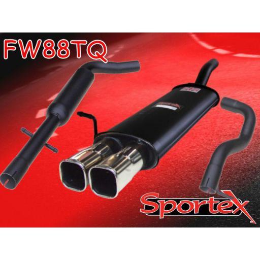 Sportex VW Golf exhaust system mk4 1997-2004 TSQ