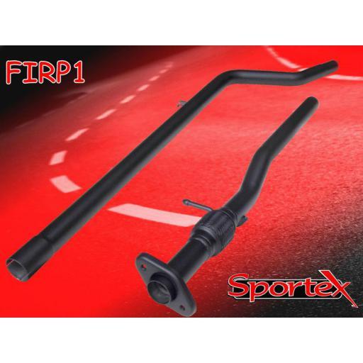 Sportex Fiat Punto 1.2i exhaust race tube 1999-2004