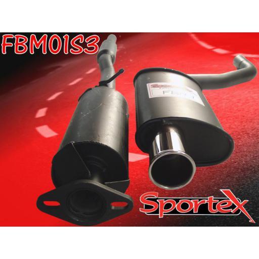 Sportex BMW Mini performance exhaust system 2001-2006 S3