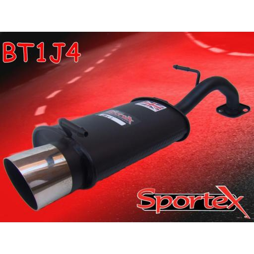 Sportex Toyota Yaris exhaust back box 1.3i 2002-2005 J4