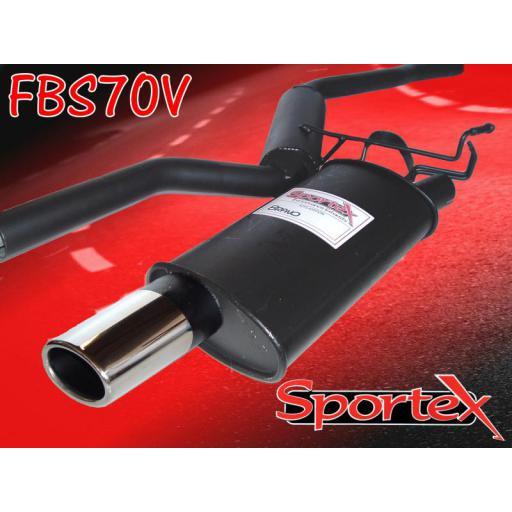 Sportex Fiat Bravo performance exhaust system 2.0i 1997-2001 OV