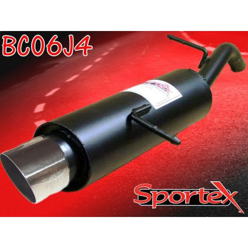 Sportex Citroen C2 performance exhaust back box 1.1i 2003- J4