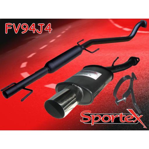 Sportex Vauxhall Astra mk4 performance exhaust system 1998-2004 J4