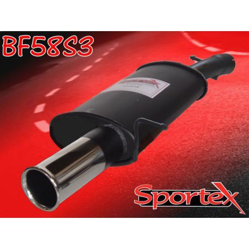 Sportex Ford Fiesta ST150 exhaust back box 05-08 S3