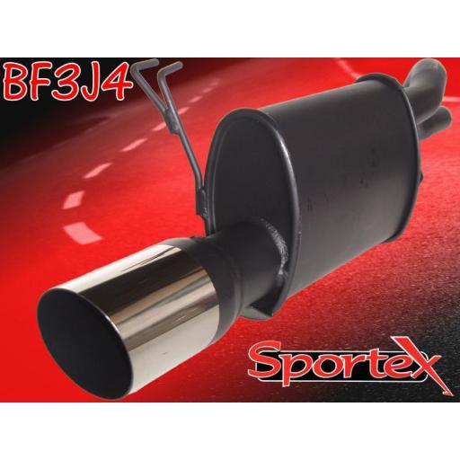 Sportex Fiat Punto exhaust back box 1999-2004 J4