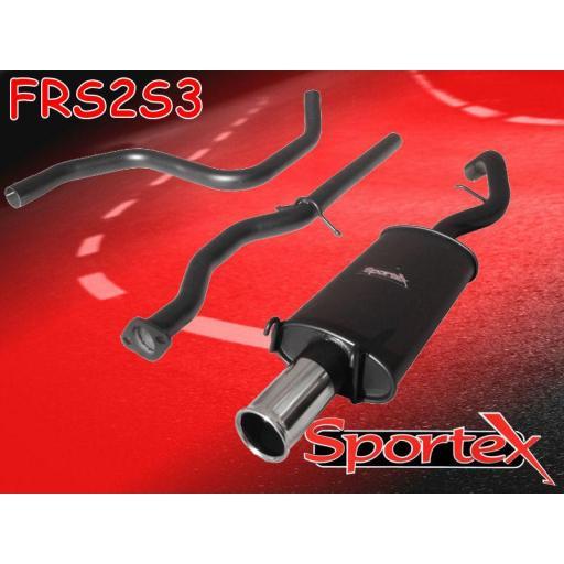 Sportex Ford Escort performance exhaust system 1.8i zetec 96-97 S3