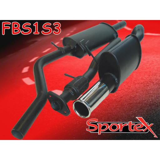 Sportex Fiat Punto performance exhaust system 1.2i 99-04 S3