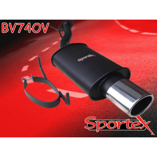 Sportex Vauxhall Astra mk4 exhaust back box 1998-2003 OV