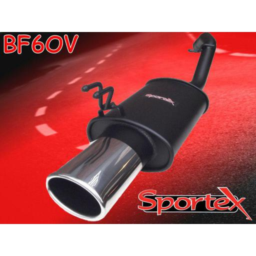 Sportex Fiat Stilo performance exhaust back box 2001- OV