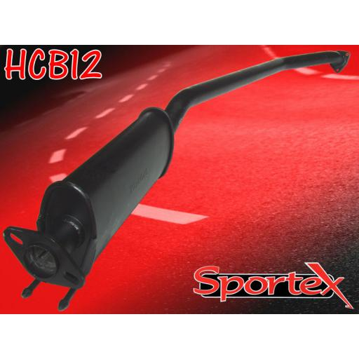Sportex Honda Civic exhaust resonated race tube Type R 2.0i 2001-2006
