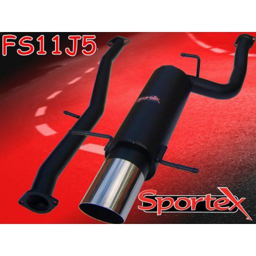Sportex Subaru Impreza turbo exhaust system 2001-2005 J5